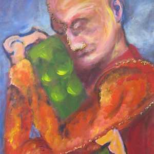 Schilderij knuffelen