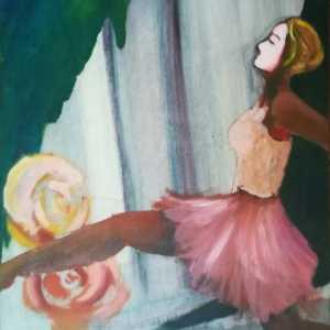 schilderij danseres
